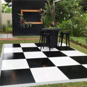 checkered dancefloor for hire