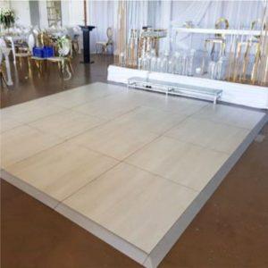 white wood dancefloor for hire