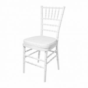 white tiffany chair hire