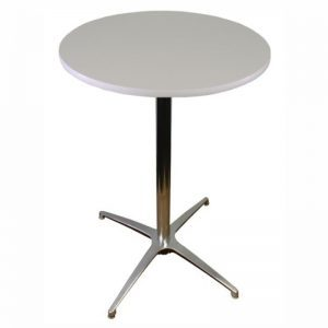 white top cocktail table hire
